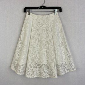 TOPSHOP Lace White Skirt NWT
